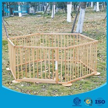 European Style Large wooden kids baby playpen with gate