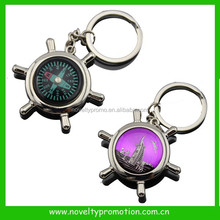 Custom compass metal keychain