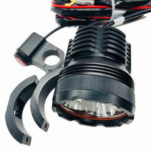 Motorcycle 12V small led strobe light warning License plate screw light with bracket