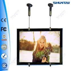 A2 sizes frameless picture backlit hanging led windows display