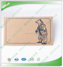 Custom cheap good quality paper hang tag name tags with your logo printed on