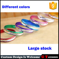 Very cheap rainbow color carve patterns metal ring for promotional gifts, fashion ring for women and men
