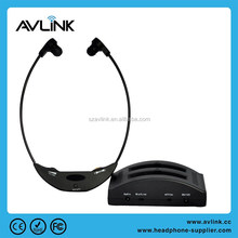 Hearing aid: Infrared TV wireless headset for older people