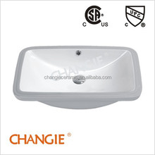 CHANGIE Bathroom undercounter porcelain sink with upc 1610