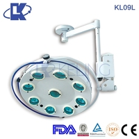 KL09L 9 bulbs ceiling operation theatre lights,ceiling operative surgical lamp