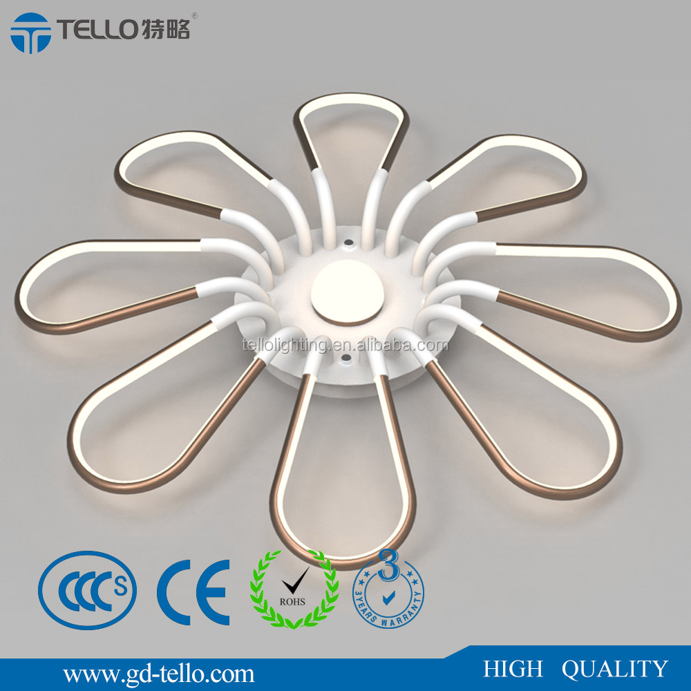 2017 new aluminum led modern decorative ceiling light for hotel indoor