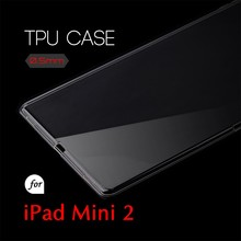 0.5mm Ultra Thin TPU Transparent Clear Protective Case for iPad mini 2 3