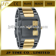 dual time zone two tone custom watch oem men watches