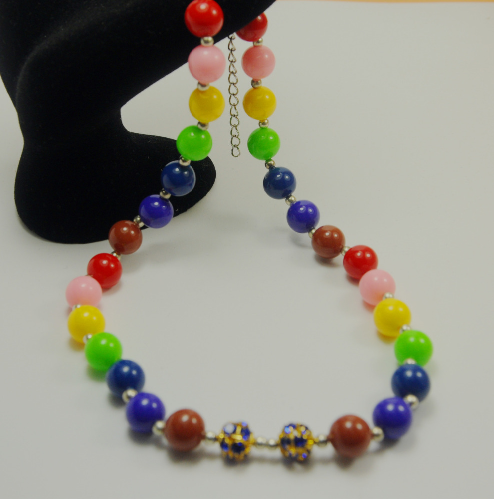 Fashion Colorful Handmade Women Jewelry Designs Chirstmas Gift DIY Beads Necklace For Kids