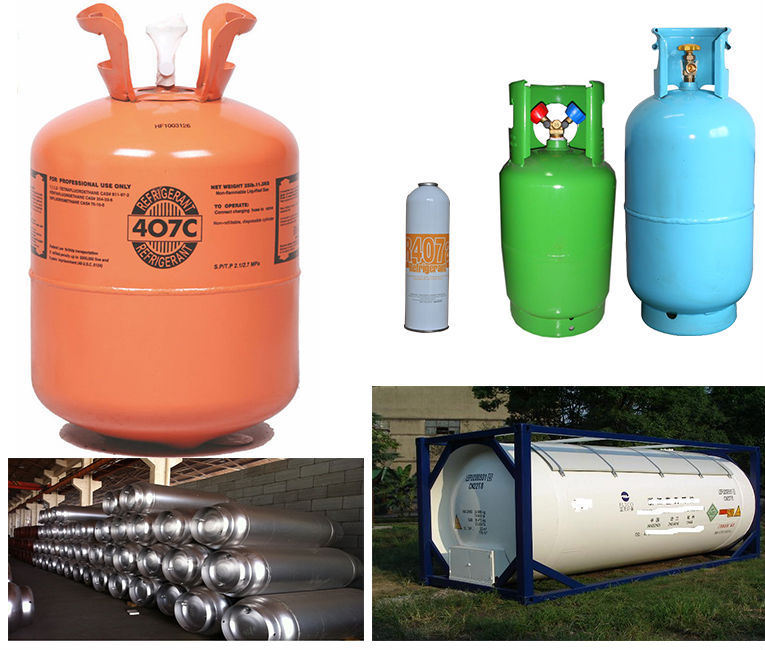 brand High purity 99.8% mixed refrigerant gas r407c with good price