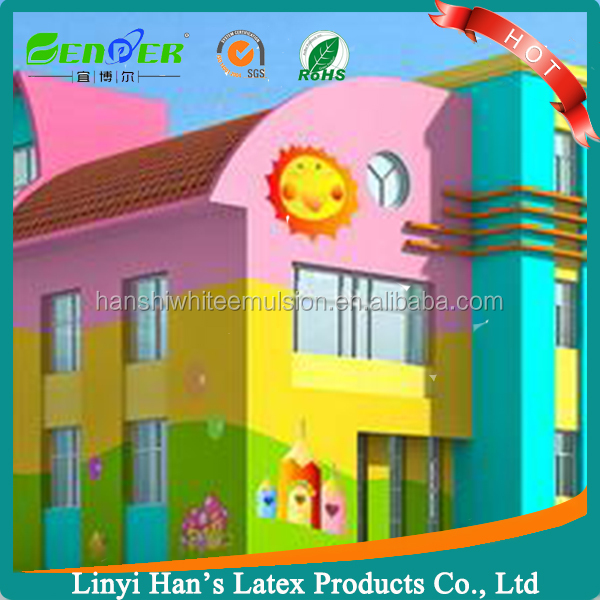 Healthy Interior Emulsion latex Paint for Children room 20% talcum powder filler