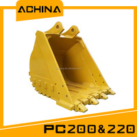 high durable spare part of excavator bucket for PC220 1CBM