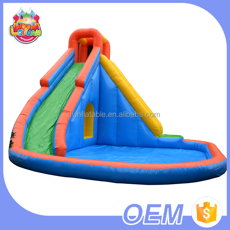 Factory Outlets Colorful Water Inflatable <strong>Slide</strong> Toys / Giant Inflatable <strong>Slide</strong> With Pool For Kids