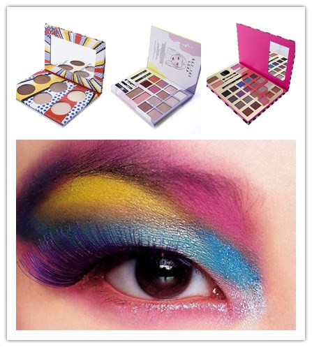 custom private label make your own eyeshadow palette with mirror and brush