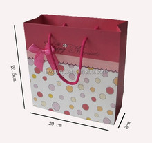 Art Paper Carrier Bag with High Quality Handle