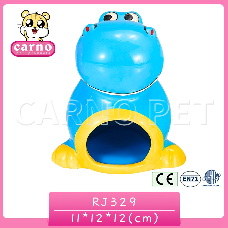 Carno factory supply ceramic dinosaur-shaped hamster nest