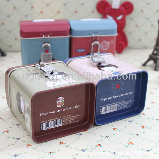 Rectangular Coin Bank tin with Slot