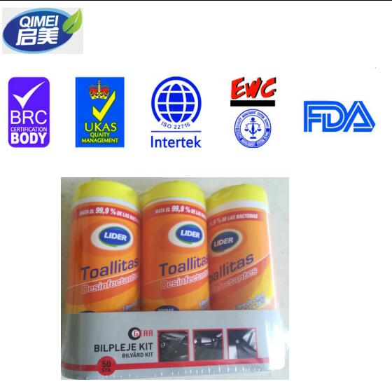 antibacterial wet wips with 35pcs in canister popular in Australia market