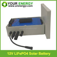 waterproof box rechargeable lifepo4 26650 12v 30ah battery for solar led light