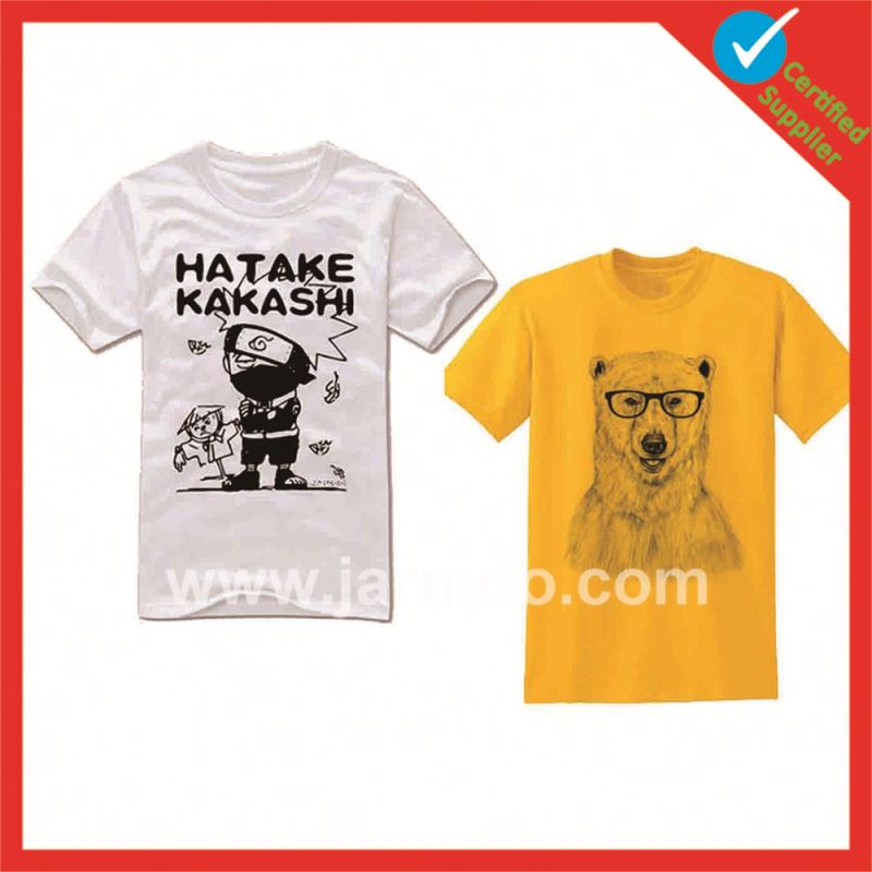 Online shopping decorate high quality t shirt design print