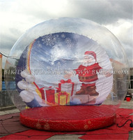 Attractive large Christmas inflatable snow globe, christmas inflatable snow globe ball C1008