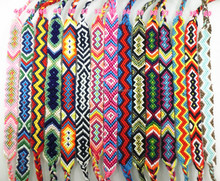 2017 Handmade Custom Wholesale Brazilian Bracelets Woven Rope String Hippy Boho Crochet Cotton Friendship Bracelets For Women