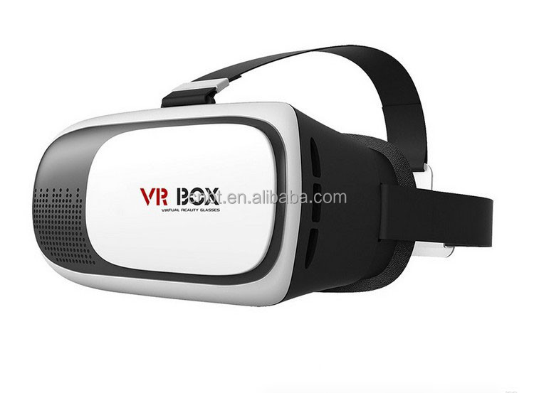 Hot Sell Premium Google Cardboard 3D Movie Glasses/VR BOX II 2.0 Version/3D Glasses+Smart Bluetooth Remote Control for Christmas