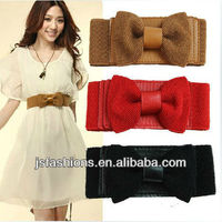 2013 Wide fashion women elastic webbing belt with many colors and designs for optipon