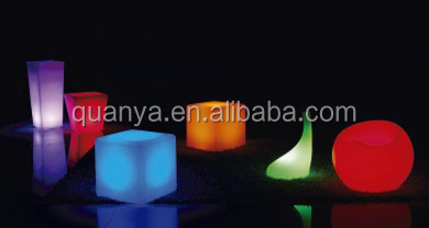 fancy led colorful lamplight bar decoration led cubic stoolvase and bubble chair popular bar chair