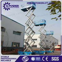 High quality self propelled hydraulic mobile air scissor jack lift