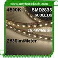 High class and price-worthy 120leds per 5meter DC24V 4500K led strips white