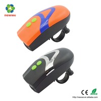 Multifunction bike bell bicycle LED front light with horn