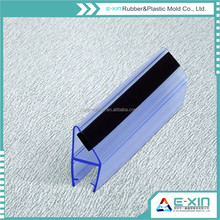 Magnetic sealing strip/ Anti-aging PVC glass edge strip for fan-shaped glass door/sliding shower door seal