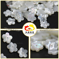 Hot selling 5-Flower shape natural mother of pearls slice stone beads with hole