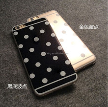 New Hot Sale Candy Color Polka Dot Soft TPU Back Cover Case Phone Case For Iphone 5 5s