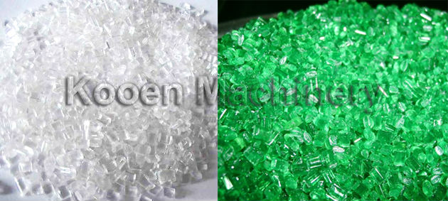 KOOEN waste PET plastic recycling hot/cooling washing/granulator machine price