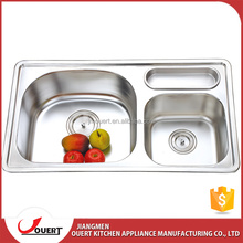 2017 hot sale double bowl stainless steel 304 used kitchen sinks for sale