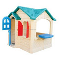 custom make small plastic toy house with a blue roof,OEM plastic mini house toys model