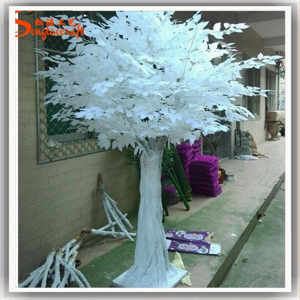 Fiber de verre artificielle blanc en bois branche d 39 arbre - Arbre decoratif pour jardin ...