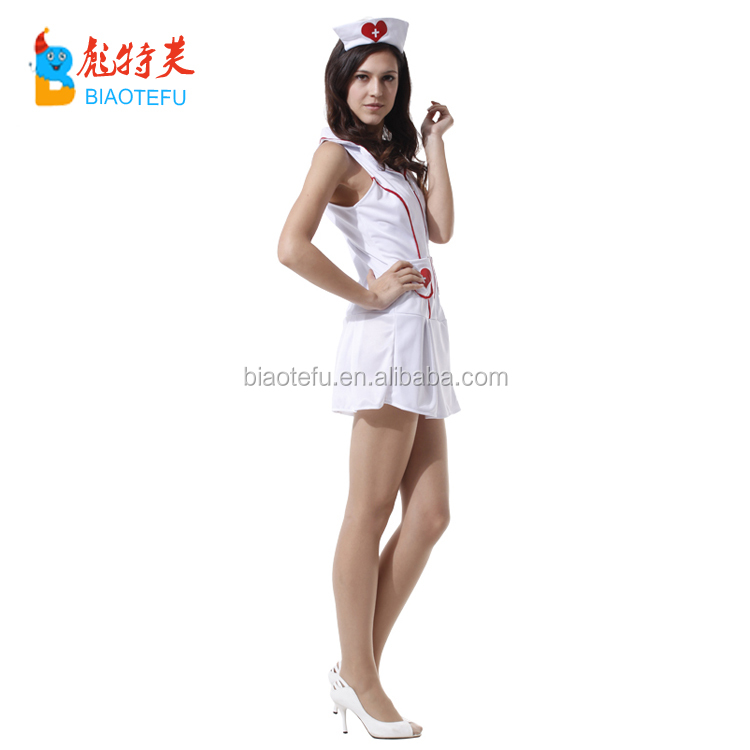 carnival adult women withe sexy nurse doctor fancy dress cosplay uniform costume