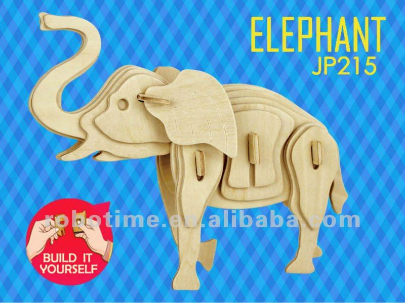 2014 NEW product 3D Wooden Puzzle Elephant