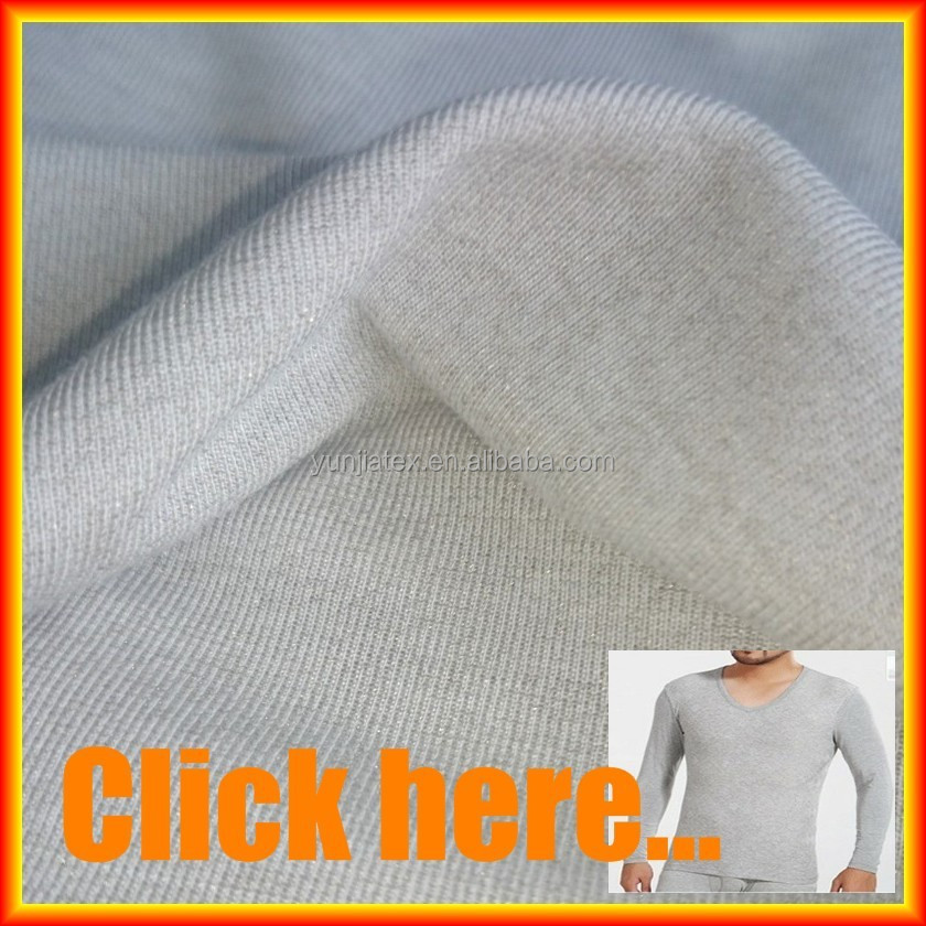 silver fiber bamboo knitted fabric for antibacterial underwear