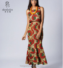 M40788 Lovely handmade wax print cotton skirt Ankara African womens clothes from China clothing factory