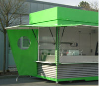 Non-toxic & eco-friendly mobile coffee shop, Fast food shop design, Outdoor food kiosk