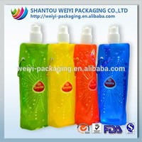 Large resealable plastic waterproof bags with spout