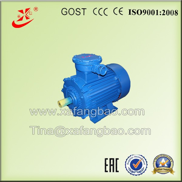 explosion proof motor 3kw for electric rock drill, high voltage