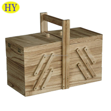 shandong factory wholesale custom wooden sewing storage box