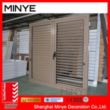 aluminum casement window with blinds inside /louver window