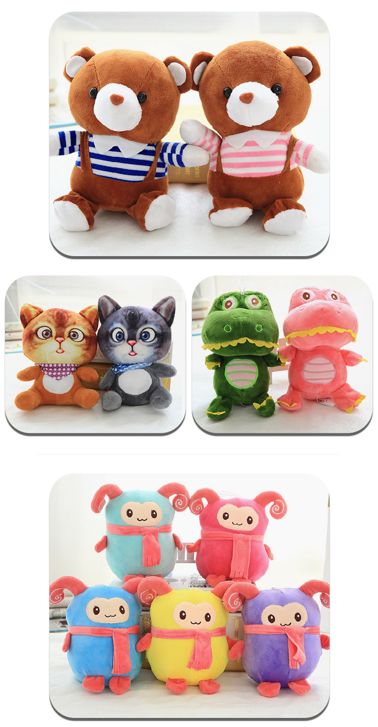 Best price wholesale crystal super soft claw machine plush bear toy For Crane Machine