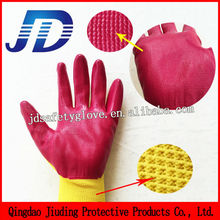13 gauge knitting nitrile coated nylon <strong>safety</strong> working gloves
